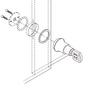 Chrome Cabinet Sliding Glass Door Push Lock