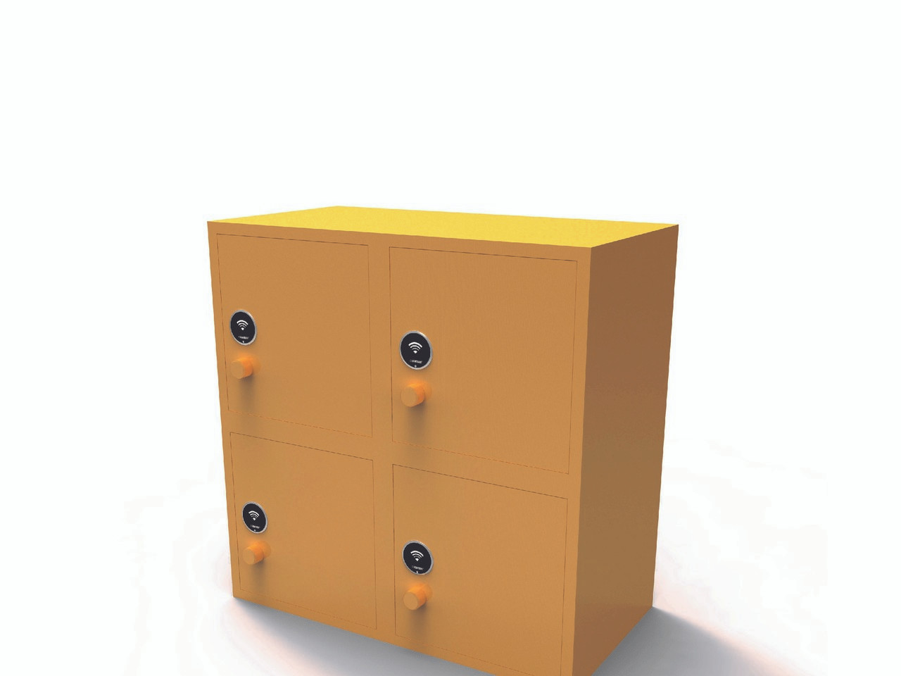 RFID cabinet lock with flush front face. 125 khz