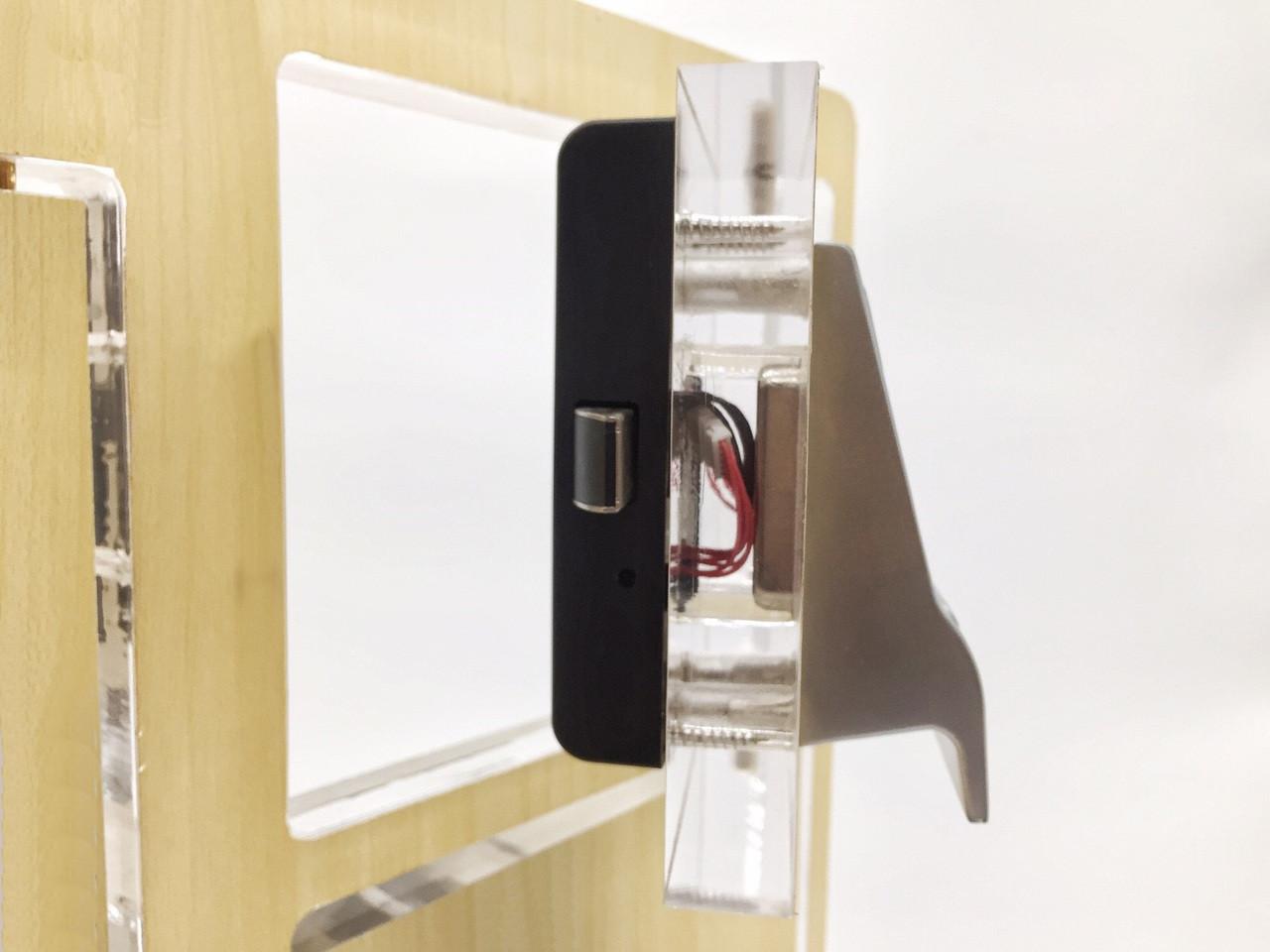 fingerprint / biometric cabinet lock with pull