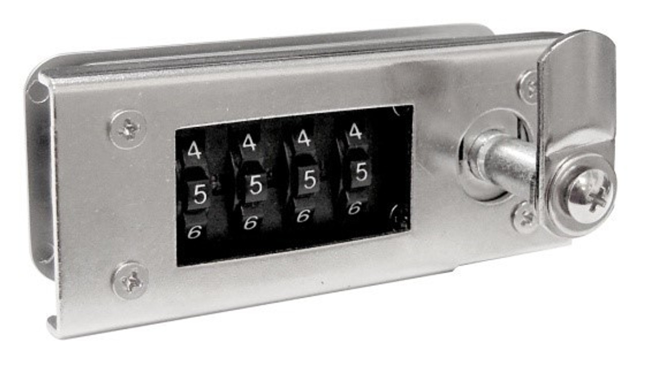 Zinc Alloy Cabinet 4 digit Dial Combination Lock, 9mm-18mm thickness