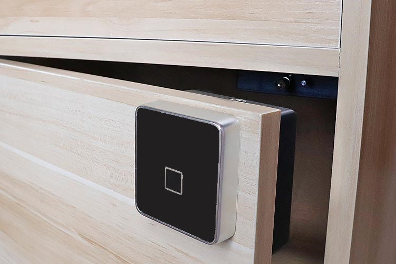 Fingerprint Cabinet Drawer Lock, surface mount only