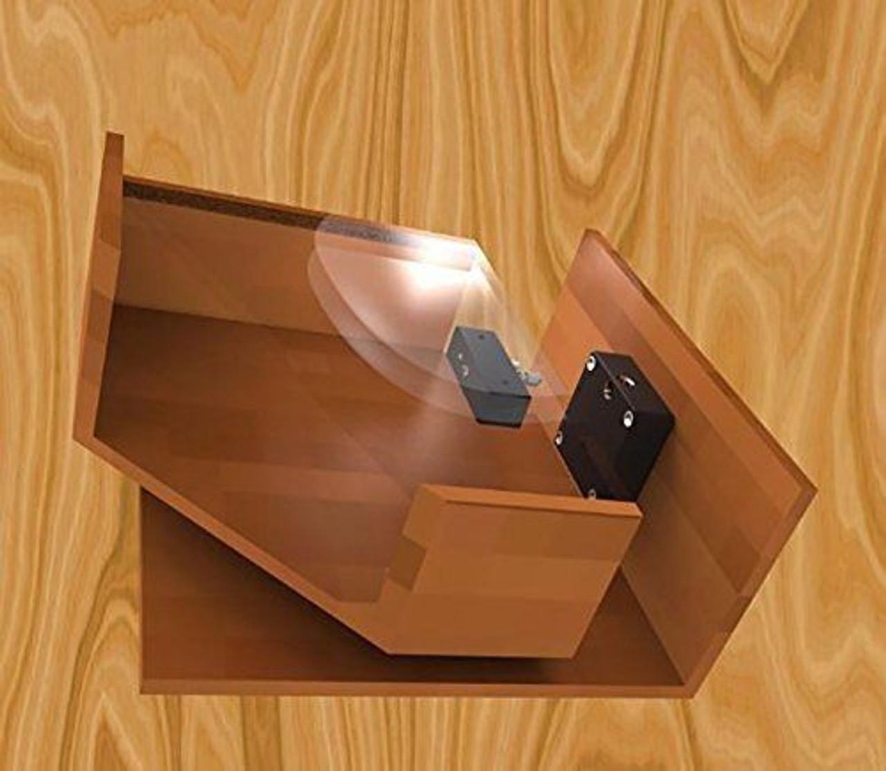 Bluetooth / Fingerprint Round Cabinet Drawer Lock, with AC port
