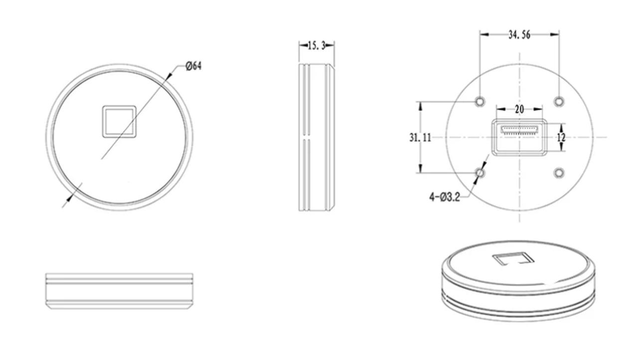Round Fingerprint Cabinet Drawer Lock, with AC port