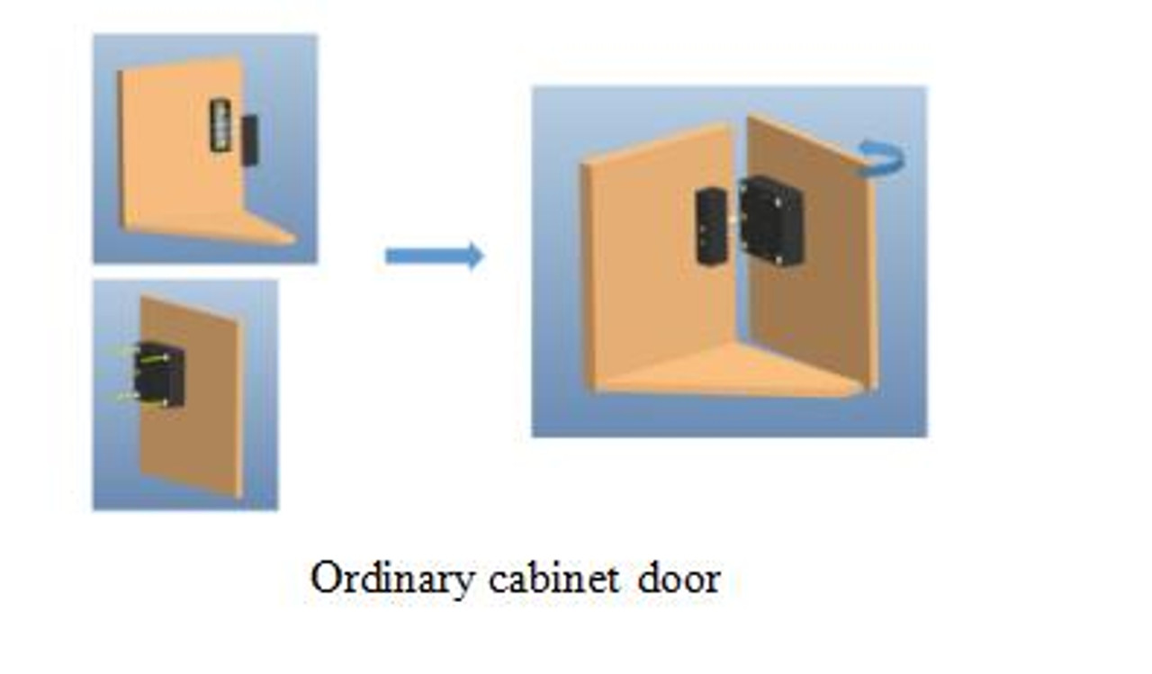 RFID Hidden Cabinet Lock with Power Jack option, 3 Keys, NO SOUND - Gun Safes, cabinets with external sensor