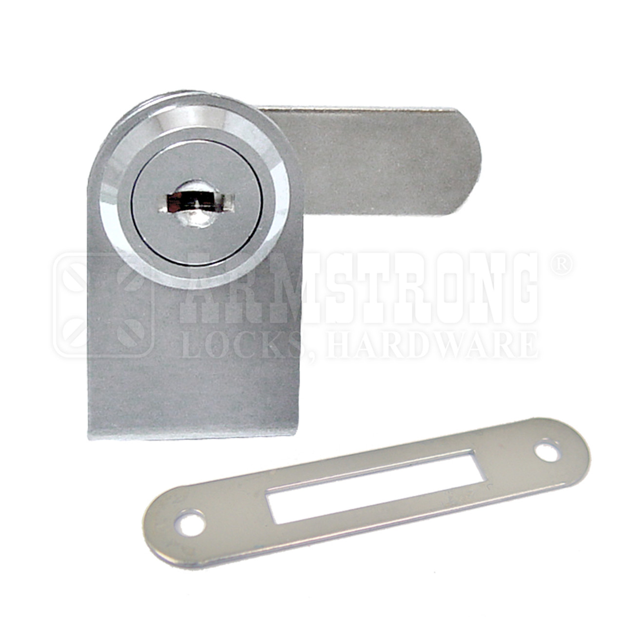 Chrome Swinging Glass Door Lock For single Door, 1/4 thick
