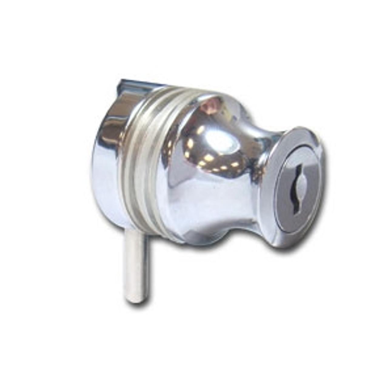 """Glass Door Cylinder Lock For Single 5/16"""" Glass Doors"""