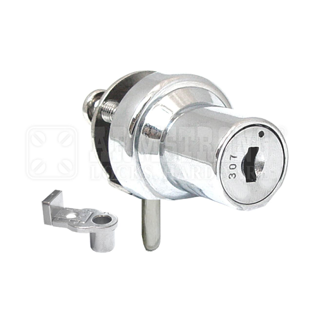 Chrome cabinet single swinging glass door lock