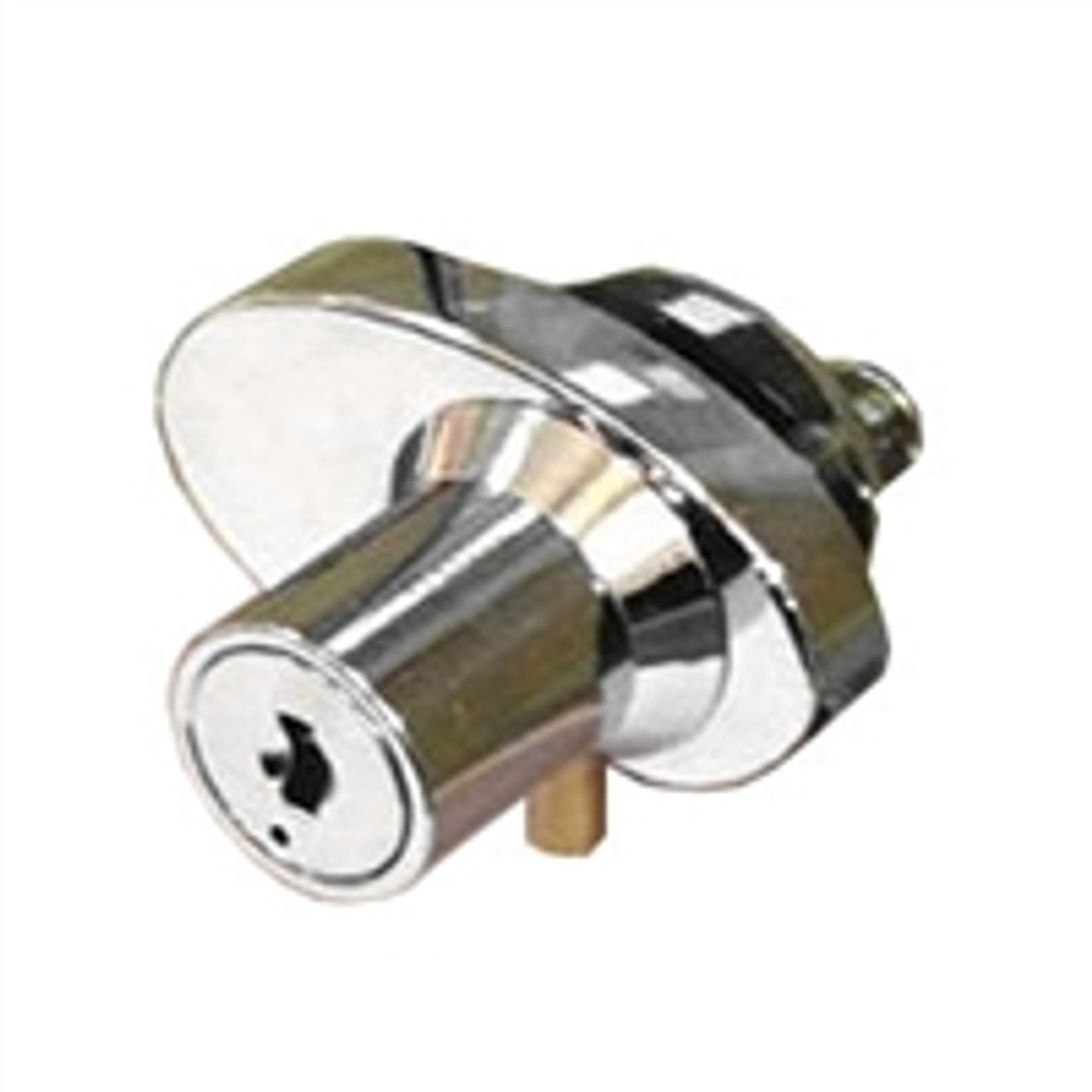 Chrome cabinet lock for double swinging glass doors