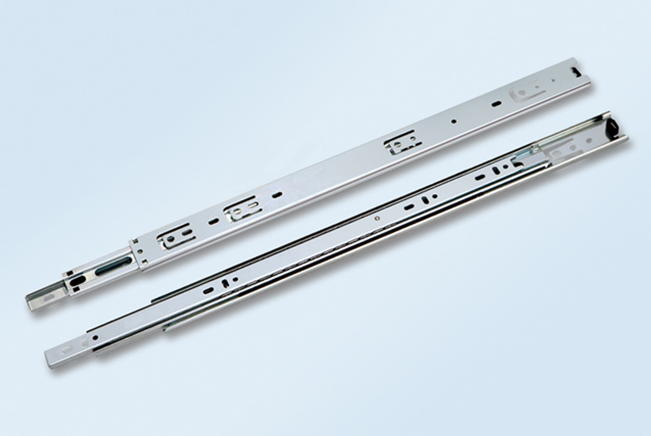 Full extension, 55lb, Low profile 36mm, ball bearing drawer slides