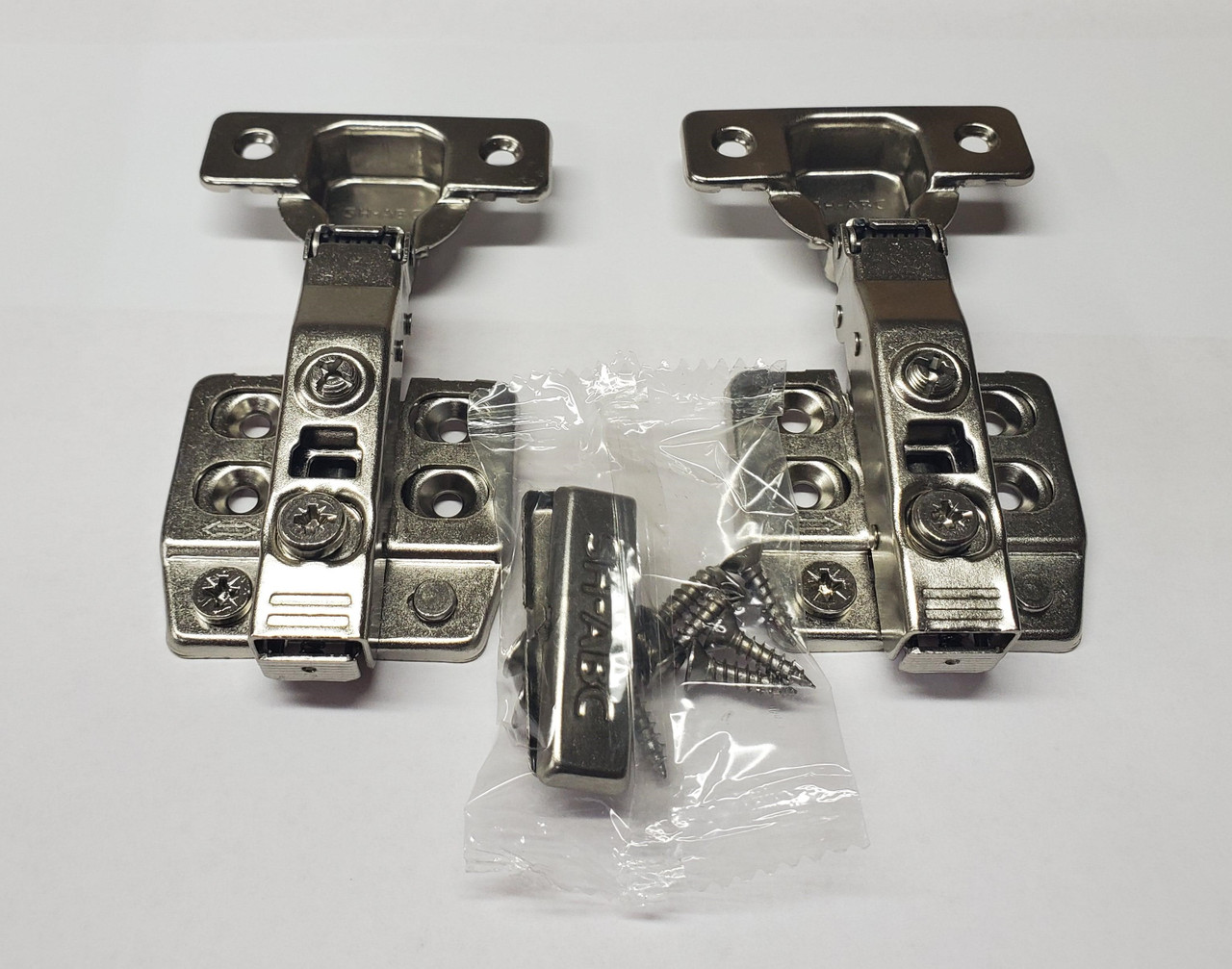 Soft close Nickel finish,  105-Degree Cabinet Hinge with Full Overlay - 1 pair