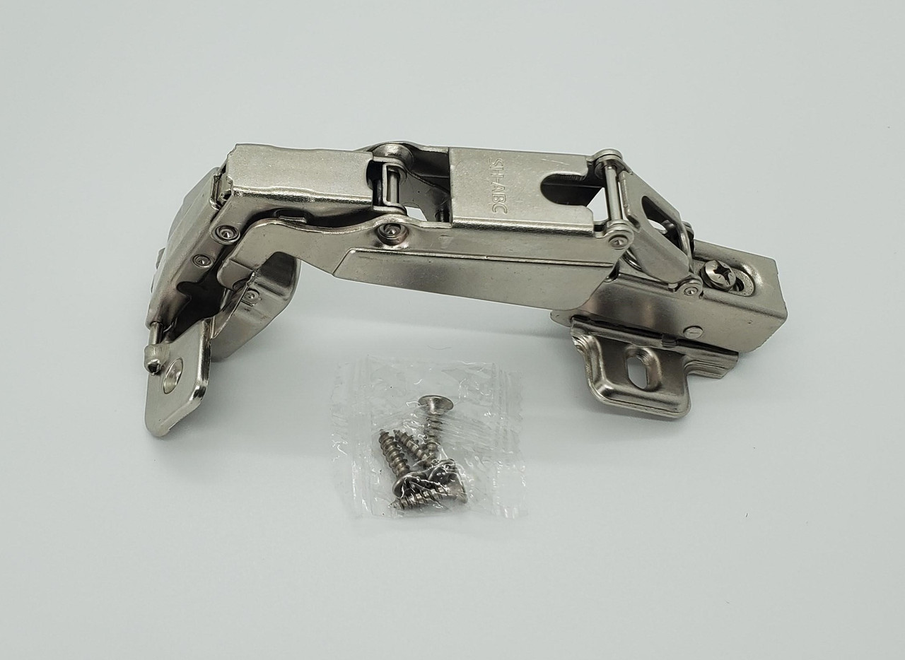 165 Deg. Full Overlay Soft close Frameless Concealed Cabinet Door Clip on Hinges & Screws