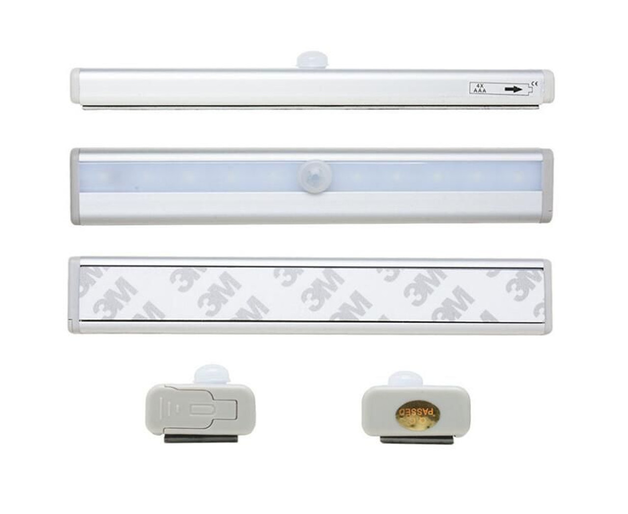 LED Motion Sensor Kitchen Under Cabinet Shelf Light battery operated