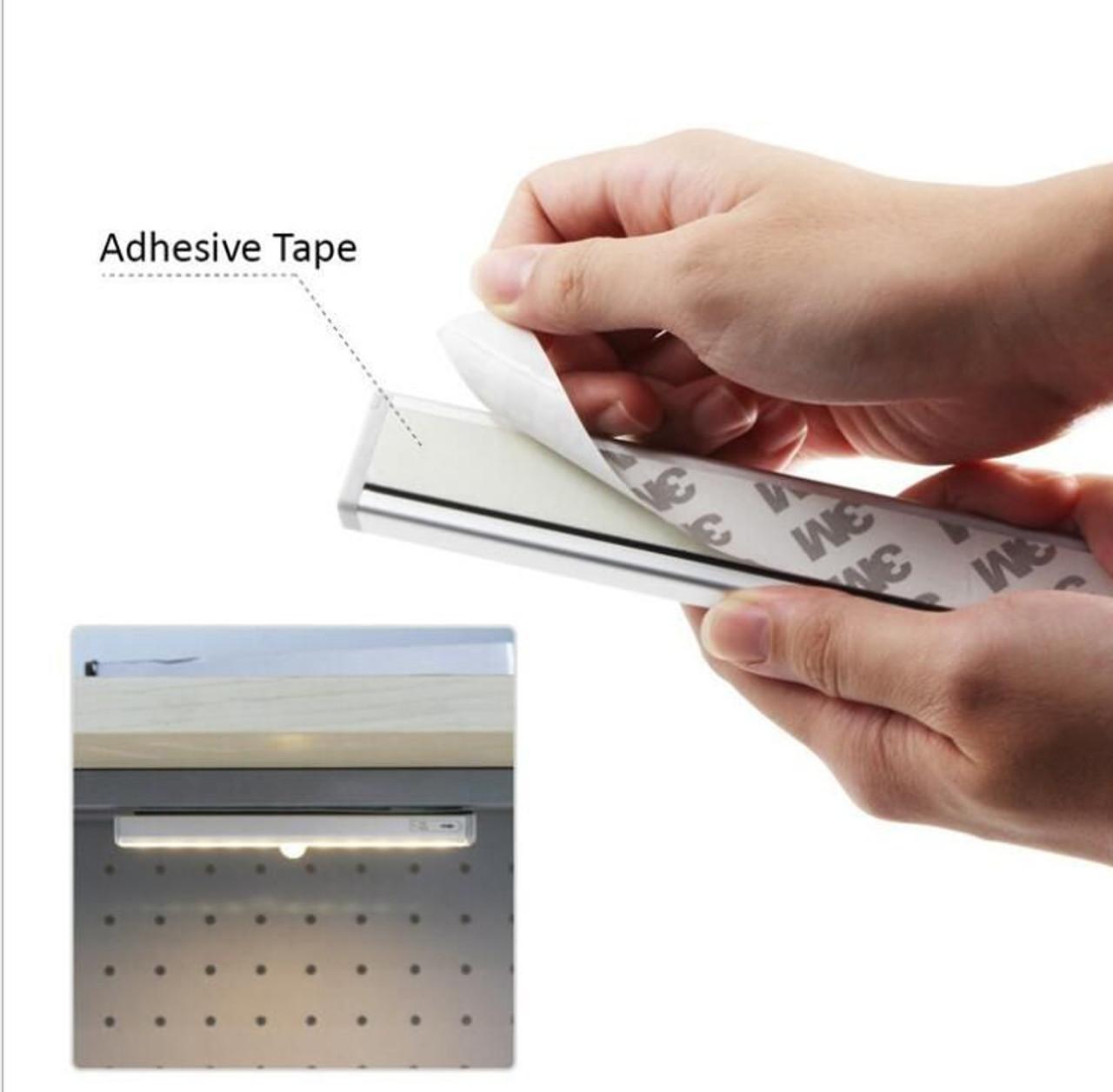 LED Motion Sensor Kitchen Under Cabinet Shelf Light battery operated
