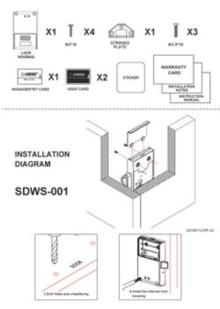 External Sensor RFID Cabinet Lock, 125 Khz