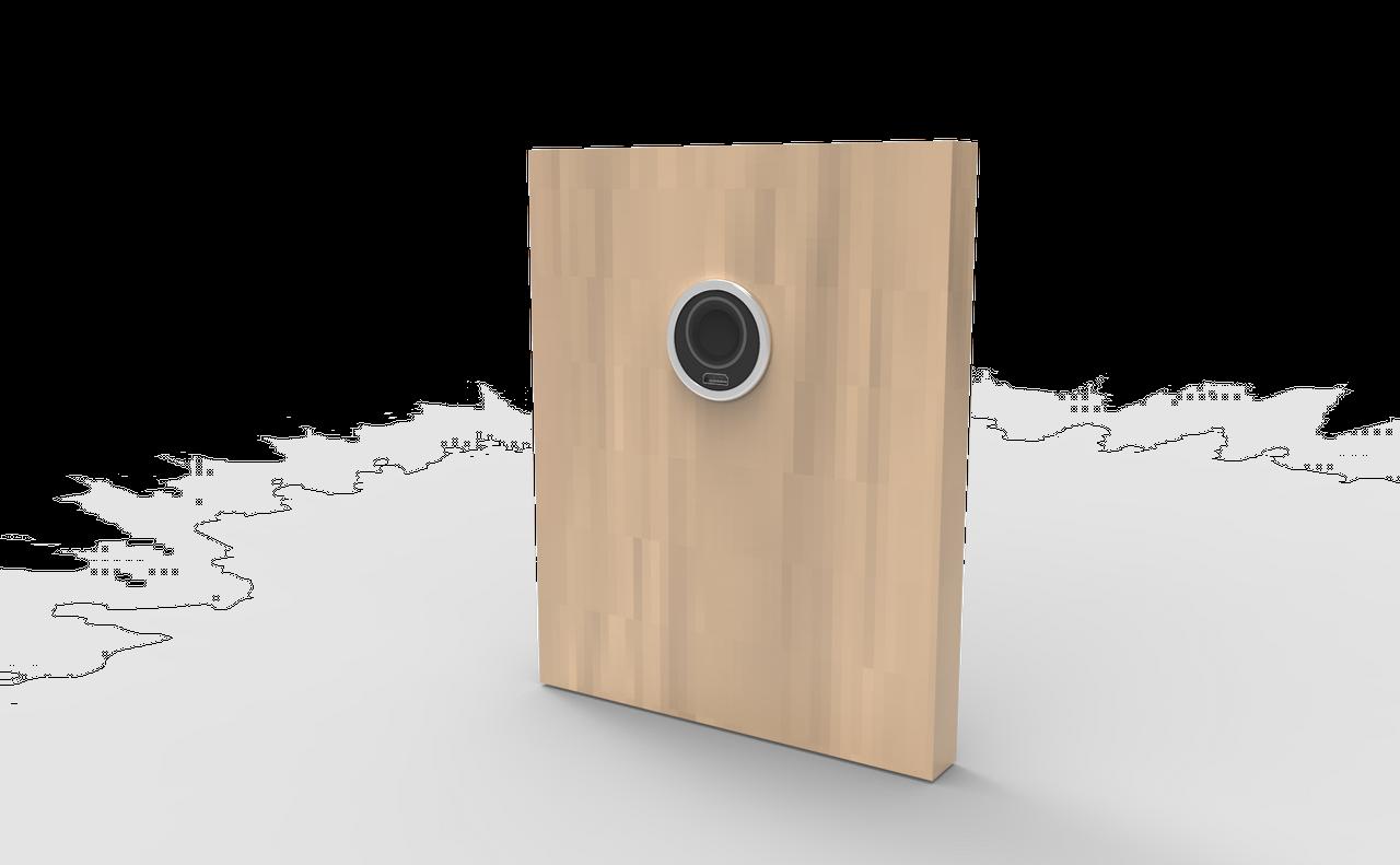Flush Mount Black Housing Fingerprint Lock