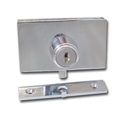 Chrome Swinging Glass Door Plunger Lock