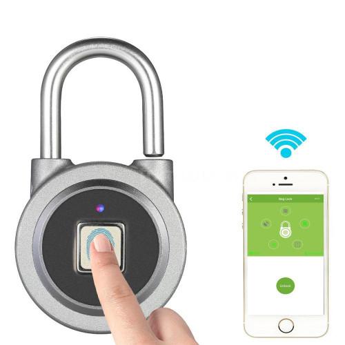 Blue tooth Fingerprint / Biometric Lock -- shackle Padlock
