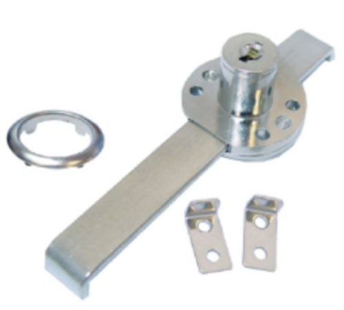 Nickle Plated Two Drawer Gang Lock