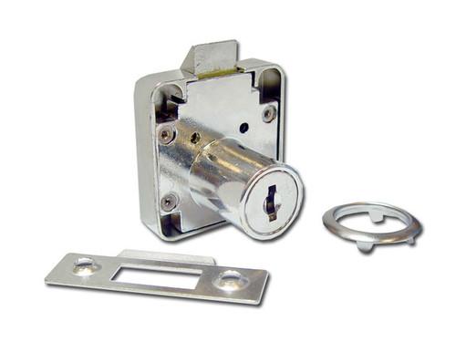 Nickle Plated Slam / Spring Lock 26mm cylinder length