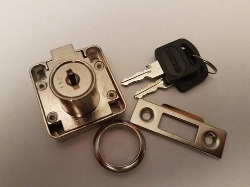 Nickle Plated Slam / Spring Lock 30 mm cylinder length