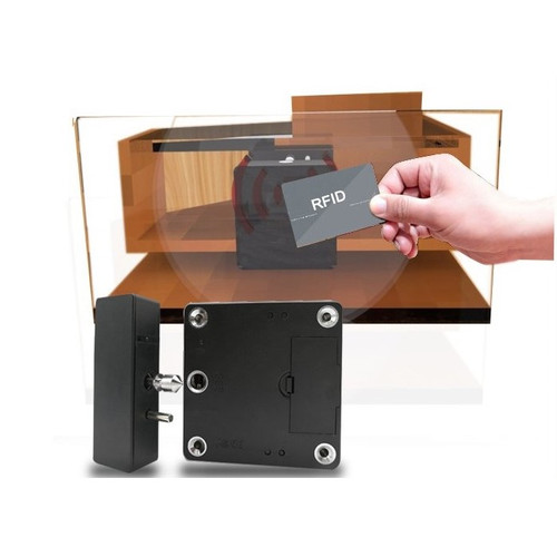 RFID Hidden Cabinet Lock with Power Jack option, 3 Keys - Gun Safes,Stands, cabinets-13.56 Mhz