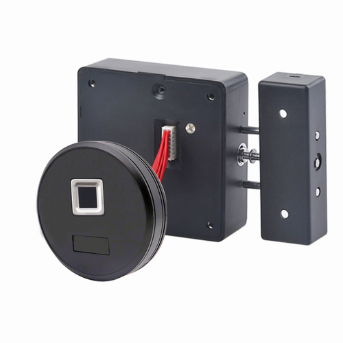Round Fingerprint Cabinet Drawer Lock, with AC port