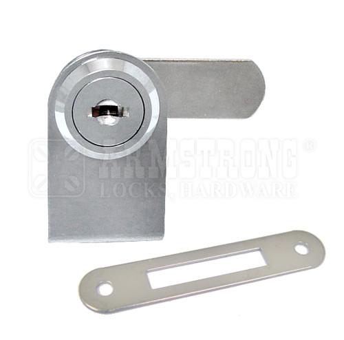Chrome Swinging Glass Door Lock For single Door, 1/4 thick