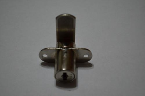 Single door wood cabinet lock