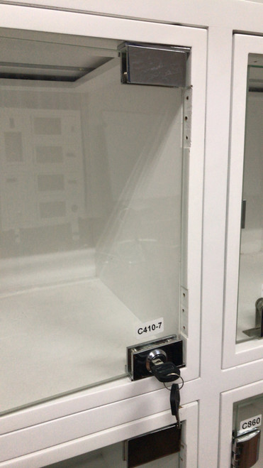 Chrome Swinging Glass Door Pivoting Camlock