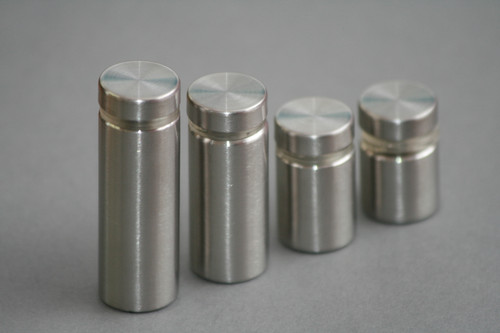 Satin finish 201 Stainless steel Sign Standoffs, multiple sizes