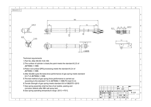 """Extension Damper -  7.09"""" extended length, 10 or 20 N Value"""