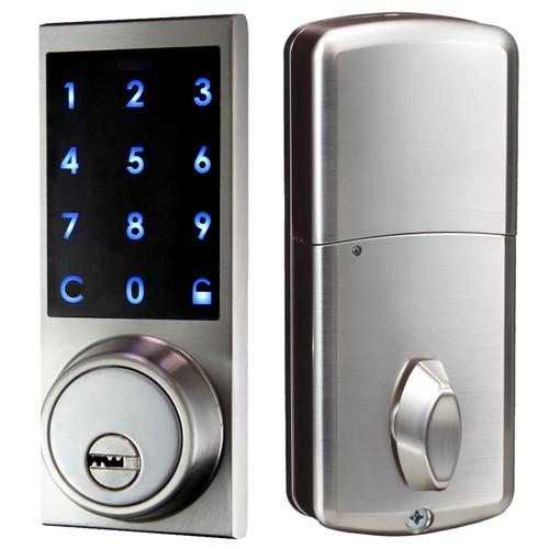 digital panel with keys -  residential dead bolt Lock
