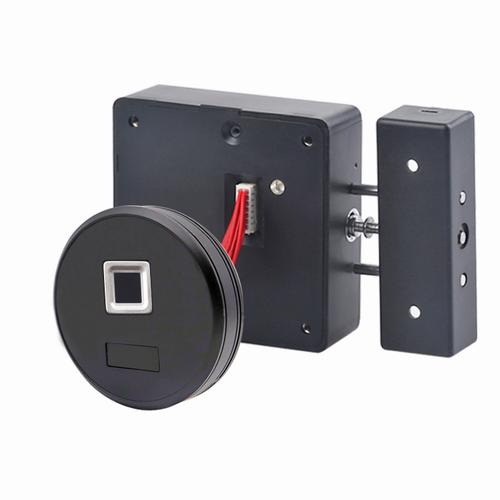 Fingerprint Round Cabinet Drawer Lock, with AC port