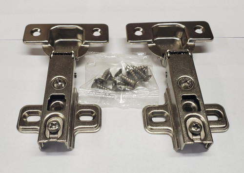 Nickel finish,  105-Degree Cabinet Hinge with Full Overlay - 1 pair