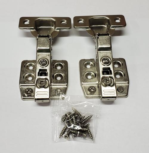 Soft close Nickel finish,  105-Degree Cabinet Hinge with half Overlay - 1 pair