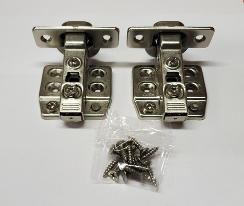Soft close Nickel finish,  105-Degree Cabinet Hinge with half Overlay - 1 pair
