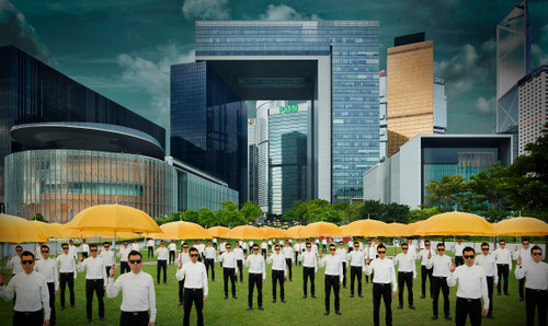 PARADE 15 (79) Hong Kong by Almond Chu 2015 Photography / Archival Inkjet Print on Art Paper 'Central Government Offices', Admiralty, Hong Kong, 'Umbrella Movement'