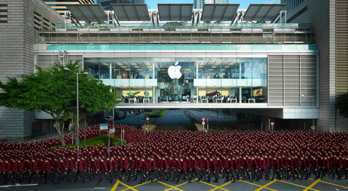PARADE 16 (THE APPLE) Hong Kong by Almond Chu 2015 Photography / Archival Inkjet Print on Art Paper Apple Store, Central, Hong Kong.