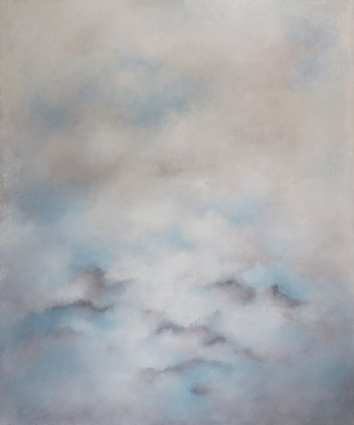 'Searching the Wind' by 'Francesca Borgo'. 2020. Mixed media on canvas, Abstract impressionism, sky, clouds