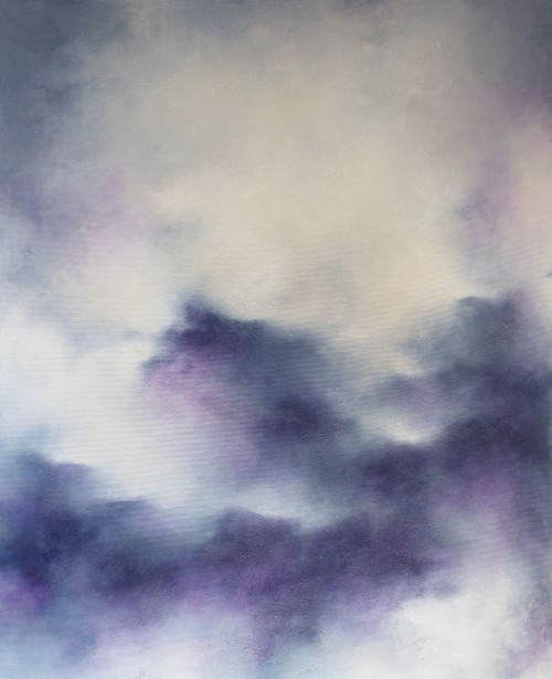 'Daydream in Music' by 'Francesca Borgo'. 2020. Mixed media on canvas, Abstract impressionism, sky, clouds