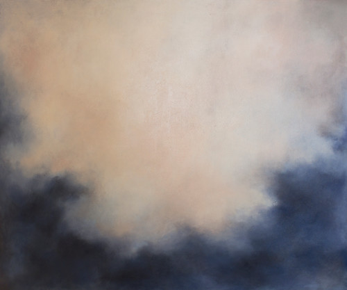 'Waltzing Out' by 'Francesca Borgo'. 2020. Mixed media on canvas, Abstract impressionism, sky, clouds