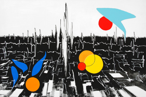NewLand_Parched. 2020. Philip Michael Wolfson. Acrylic & Ink on Canvas.