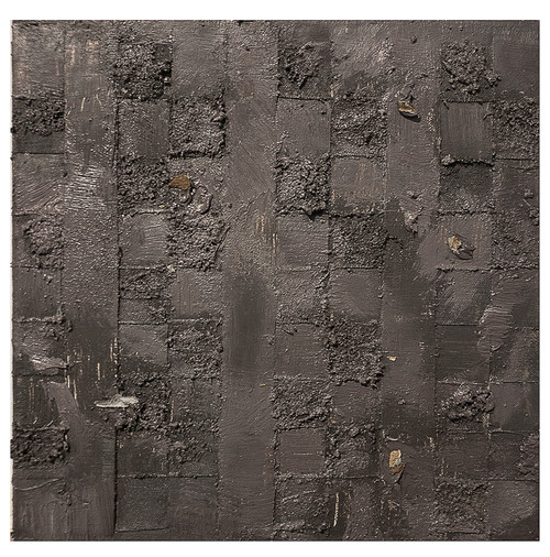 Object and subjective painting (lavender gray weaving) by Haerim Lee. 2021. Mixed Media on Canvas.