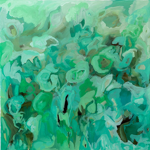 Rainforest by Anna Reber. 2020. Oil on Canvas. Abstract.