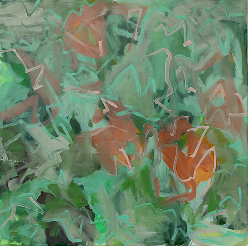 Poppy Field near Avenches by Anna Reber. 2019. Oil on Canvas. Abstract.