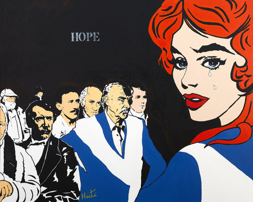 Hope by Harti. 2020. Ontic-Postmodern-Expressionism; commentary pop art. Acrylic on canvas.