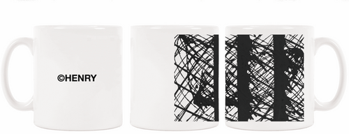 Limited edition coffee mug printed with Invigorate by Henry Lau.