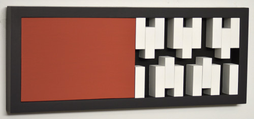 Interactive mobile 0216 position A by Manuel Izquierdo. 2020. Acrylic, wood, Galvanized iron and magnet.