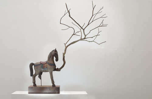 Cycles of Time by Dong Hun. 2017. Wood, Iron. Sculpture.