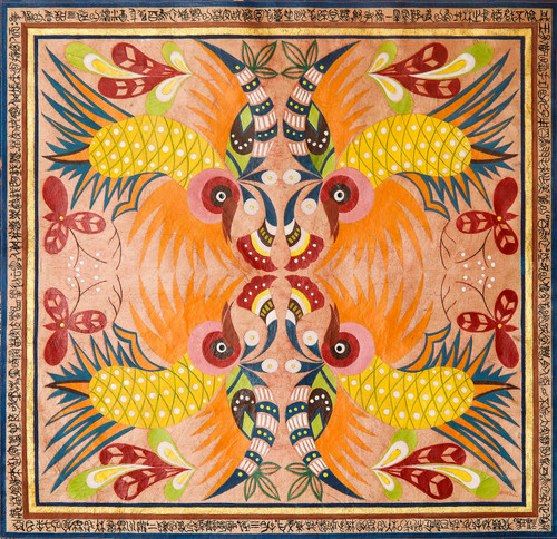 MIAO by Lanyu Chen. 2020. Local mineral pigments on traditionally hand-made paper.